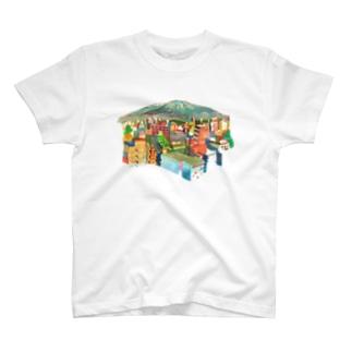 山の見えるまち T-shirts