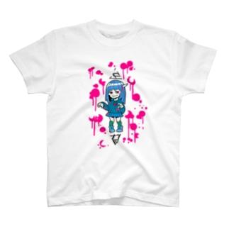 ゾンビガール「しかばね ぞん美」 T-shirts