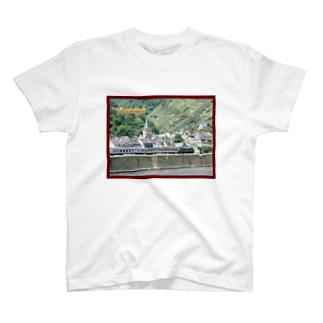 ドイツ:ライン河畔の風景写真 Germany: Riverside view of rhein T-shirts