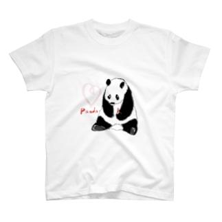 パンダすわり T-shirts