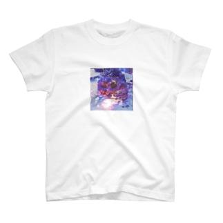 ガイコツ×さくら T-shirts