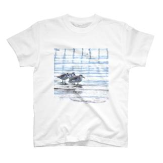 雨上がりのミユビシギ T-shirts