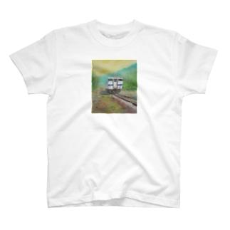 石炭のまちを走る列車 T-shirts