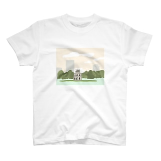 ハノイ 亀の塔 T-shirts