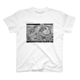 ボールペン画のイラストレーター・白石拓也の鉛筆画「ラストシーン」 T-shirts