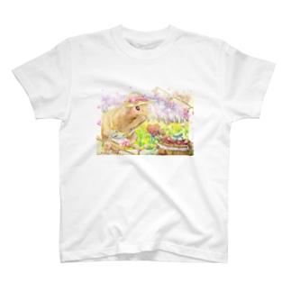 ボールペン画のイラストレーター・白石拓也のデジタルイラスト「プロポーズ」 T-shirts