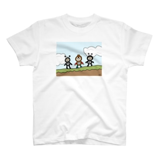 駆け抜けてくステージで、両側から敵に挟まれるやつ! T-shirts