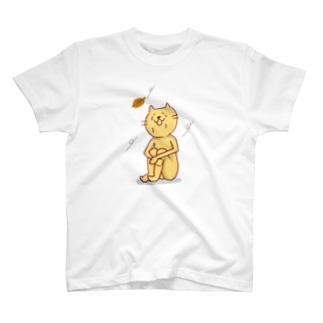 シクシクネコネコ 猫次郎くん T-shirts