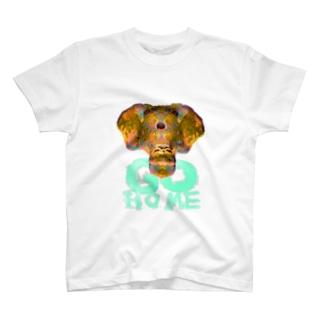 GOHOMEヲアサ T-shirts