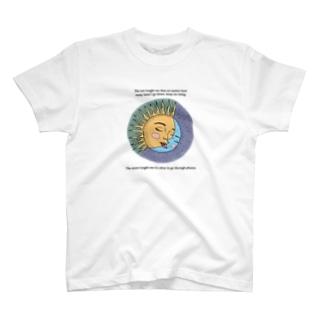 太陽と月 Tシャツ T-shirts