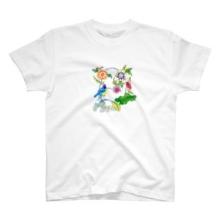 民画・花鳥図 T-shirts