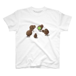 キーウィバードとキウイ T-Shirt