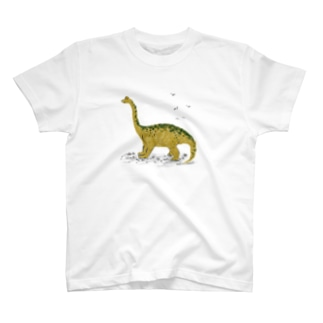 手描き恐竜ブラキオサウルスTシャツ T-shirts