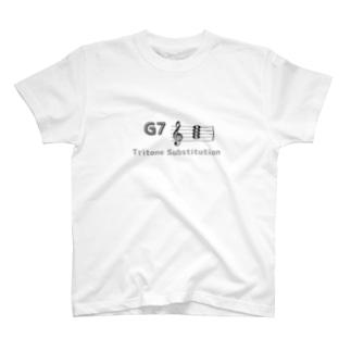 裏コード「G7-D♭7」(両面) T-shirts