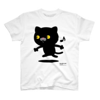 にゃんこMAX(黒猫) T-shirts