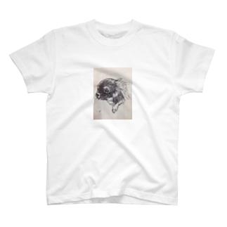 チワワ手描きイラストグッズ T-shirts