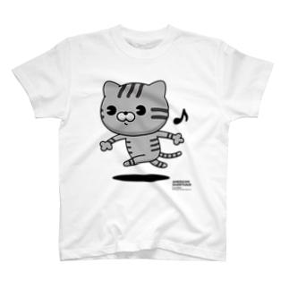 にゃんこMAX(アメショー) T-shirts