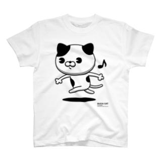 にゃんこMAX(ブチネコ) T-shirts