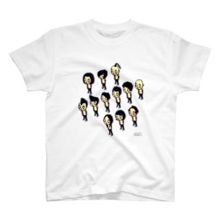 いろいろ髪型はんこ T-shirts