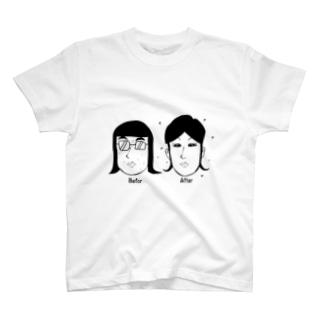 メイクアップAFTER T-shirts