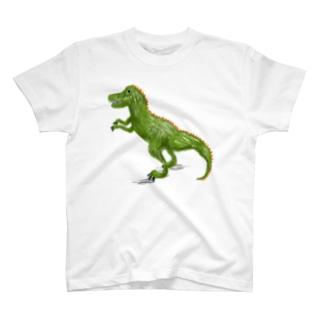 「ティラノサウルス」イラスト恐竜Tシャツ T-shirts