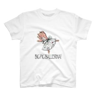 BIG PIG BALLERINA! sylphide T-shirts