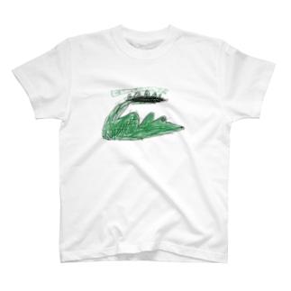 サバンナのワニ T-shirts