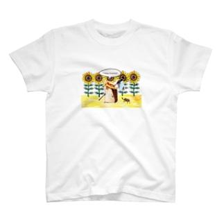 ハリネズミの夏休み T-shirts