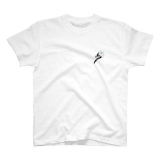 シマエナガ2(ワンポイント) T-shirts