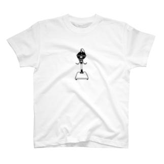 引き伸ばし機(黒) T-shirts