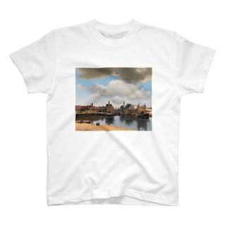 フェルメール / 『デルフト眺望』1660年-61年 T-shirts
