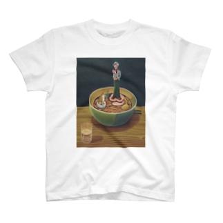犬と麺と待ちぼうけ T-shirts