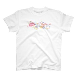 『フシギなピクミー』雲と虹 T-shirts