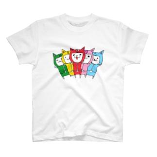カリカリ戦隊にゃろめんジャー T-shirts