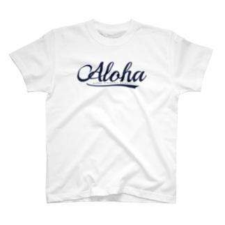 Aloha (Navyロゴ) 109  T-shirts