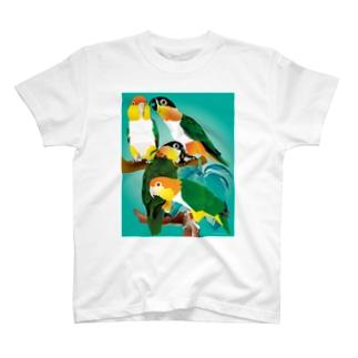シロハラズグロシロハラインコ T-shirts