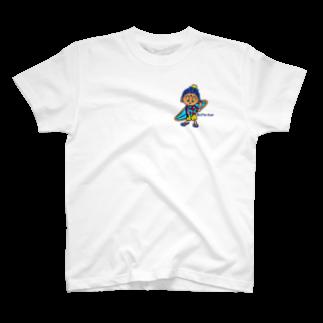 鎌倉のご当地キャラぶったくんのbeach style Butta-kun T-shirts