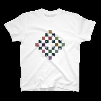 尾刀の色彩和格子 T-shirts
