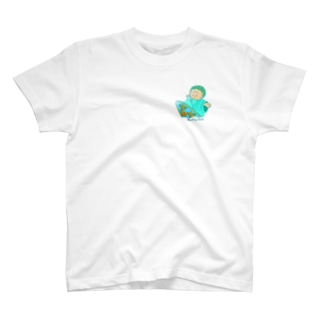 surf Butta-kun(green) T-shirts