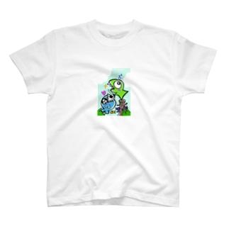 おたべザウルス~サメ釣り?~ T-shirts