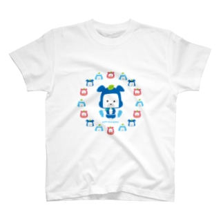 忍者犬たろうくん_開運B T-shirts