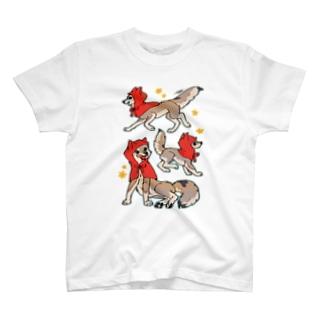 タタナ幻獣館の赤ずきんオオカミちゃん T-shirts