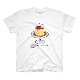 喫茶店のプリン T-shirts