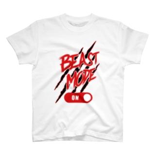 BEAST MODE ON 02 T-shirts