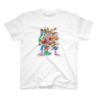 いっぱい食べよう🍩🍣🍰 T-shirts