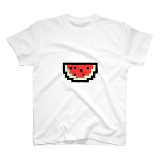 スイカアイコン T-shirts