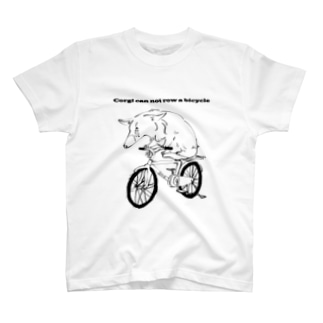 Corgi can not row a bicycle T-shirts
