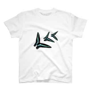 昆虫シリーズ:アオスジアゲハ T-shirts