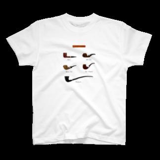 Art of Smokeのパイプ五種柄Tシャツ T-shirts