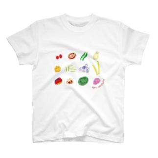食べてみました野口です。 T-shirts